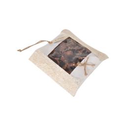 pot-pourri sac coco 15*15*2cm-4 senteurs ass=nature/pomme+canelle/orange/vanille