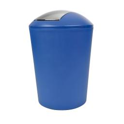 poubelle a bascule flic-flac plastique 5,6l vitamine bleu roi