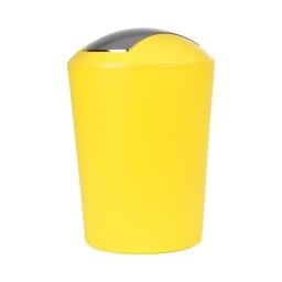 poubelle a bascule flic-flac plastique 5,6l vitamine jaune
