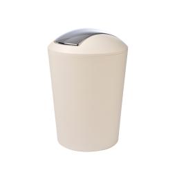 Poubelle a bascule flic-flac plastique 5,6l vitamine Naturel