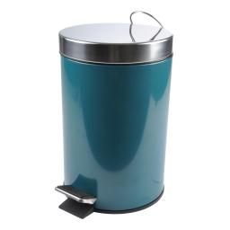 Poubelle a pedale metal 3l  vitamine bleu emeraude Bleu/emeraude