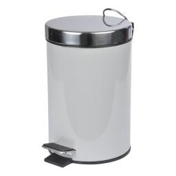 poubelle a pedale metal 3l vitamine gris clair