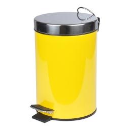 poubelle a pedale metal 3l vitamine jaune