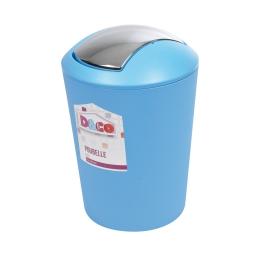 poubelle flic flac 5.6l bleu couvercle chromé - licence d&co