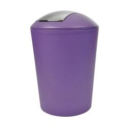 poubelle flic flac 5.6l prune couv chromé douceur d'interieur theme vitamine