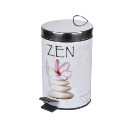 Poubelle metal 3l douceur d'interieur design galet zen Rose