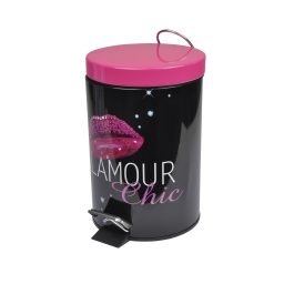 poubelle metal 3l douceur d'interieur design glam chic