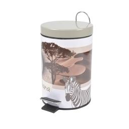 poubelle metal 3l douceur d'interieur design zebre