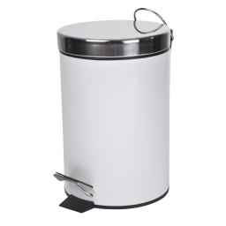Poubelle metal 3l uni  douceur d'interieur theme vitamine Blanc