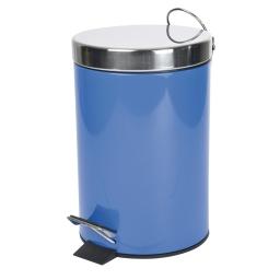 Poubelle metal 3l uni  douceur d'interieur theme vitamine Bleu roi