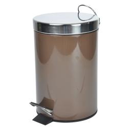 Poubelle metal 3l uni  douceur d'interieur theme vitamine Chocolat