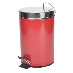 Poubelle metal 3l uni  douceur d'interieur theme vitamine Rouge