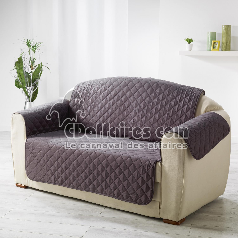 protege canape matelasse 279 x 179 cm microfibre unie club anthracite cdaffaires. Black Bedroom Furniture Sets. Home Design Ideas