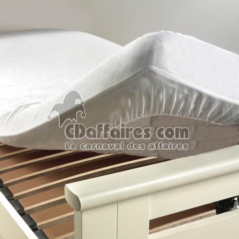 Protege Matelas 140 X 190 Cm Molleton Molly Blanc - Cdaffaires