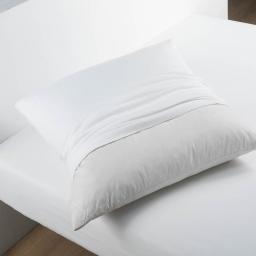 Protege oreiller 65 x 65 cm molleton molly Blanc