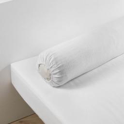 Protege traversin (0)45 x 145 cm molleton molly Blanc