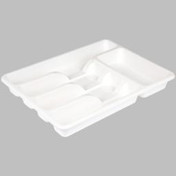 range couverts de luxe 39*29*h5cm - blanc