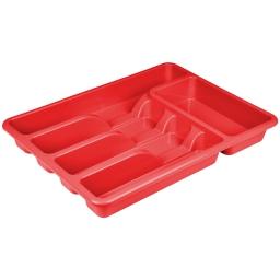 range couverts de luxe 39*29*h5cm - rouge