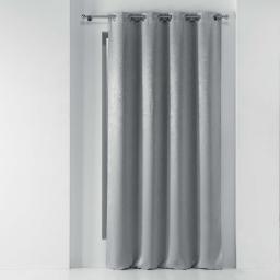 Rideau a oeillets 135 x 240 cm occultant marbre marbrea Gris
