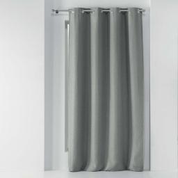 Rideau a oeillets 135 x 280 cm occultant tisse tissea Gris