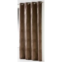 Rideau a oeillets 137 x 260 cm taffetas froisse palmeraie Noisette