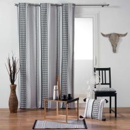 rideau a oeillets 140 x 240 cm coton imprime attica