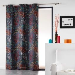 Rideau a oeillets 140 x 240 cm coton imprime majorelle Orange
