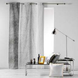 Rideau a oeillets 140 x 240 cm coton imprime textilio Gris