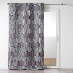 Rideau a oeillets 140 x 240 cm coton imprime woodika Taupe