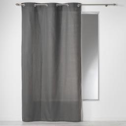 Rideau a oeillets 140 x 240 cm coton uni panama Ardoise