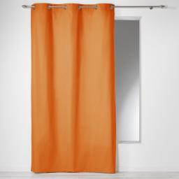 Rideau a oeillets 140 x 240 cm coton uni panama Brique