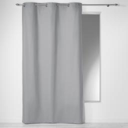 Rideau a oeillets 140 x 240 cm coton uni panama Gris