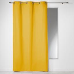 Rideau a oeillets 140 x 240 cm coton uni panama Miel