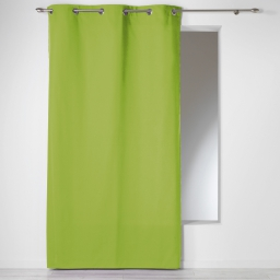 Rideau a oeillets 140 x 240 cm coton uni panama Vert