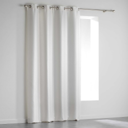 Rideau a oeillets 140 x 240 cm occultant velours frappe shadow Blanc