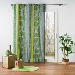Rideau a oeillets 140 x 240 cm polycoton imprime jenya Vert