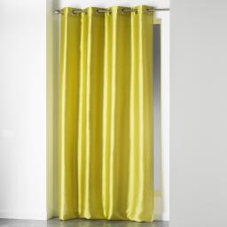 Rideau a oeillets 140 x 240 cm shantung uni shana Vert