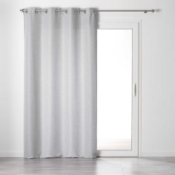 Rideau a oeillets 140 x 240 cm tamisant chambray glory Anthracite