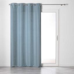 Rideau a oeillets 140 x 240 cm tamisant chambray glory Bleu
