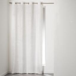 Rideau a oeillets 140 x 240 cm velours uni romantic Blanc