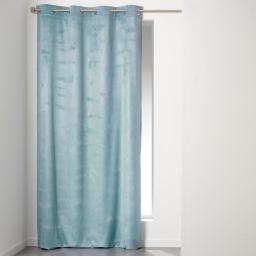 Rideau a oeillets 140 x 240 cm velours uni romantic Ciel