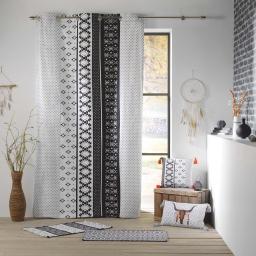 rideau a oeillets 140 x 250 cm coton imprime tribaly love