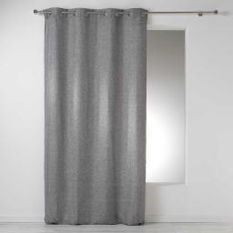 Rideau a oeillets 140 x 260 cm chambray uni select Anthracite