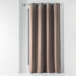 Rideau a oeillets 140 x 260 cm chambray uni solena Noisette