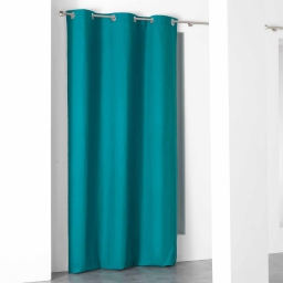 Rideau a oeillets 140 x 260 cm coton uni popsys Bleu