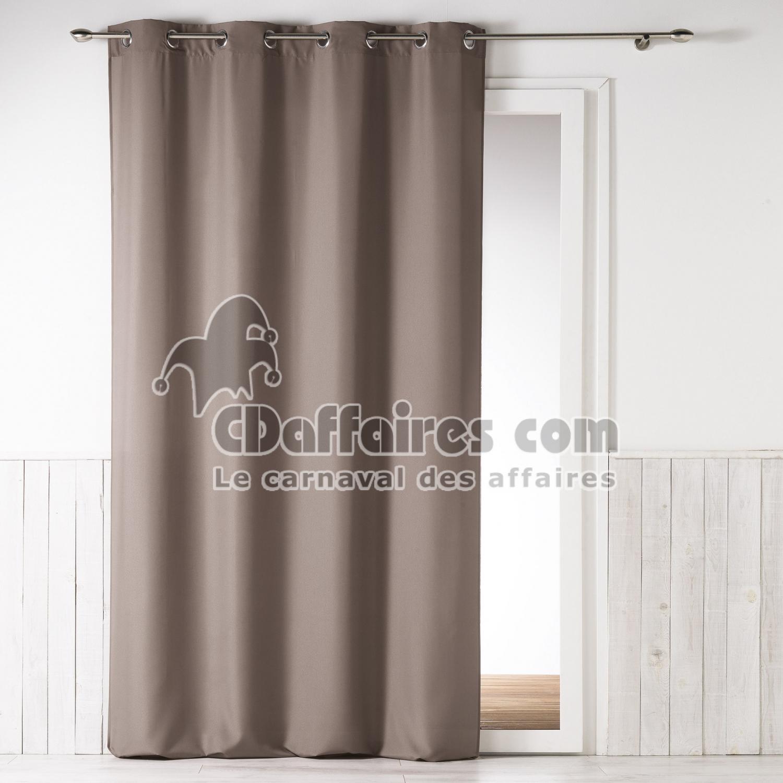 rideau a oeillets 140 x 260 cm fils coupes uni danae lin. Black Bedroom Furniture Sets. Home Design Ideas