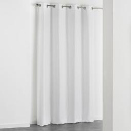 Rideau a oeillets 140 x 260 cm jacquard adamo Blanc