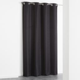 Rideau a oeillets 140 x 260 cm jacquard adamo Noir