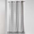 Rideau a oeillets 140 x 260 cm jacquard bicolore filio Gris, image n° 1