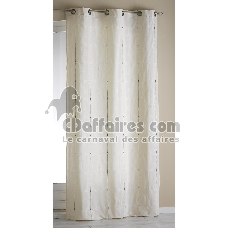 rideau a oeillets 140 x 260 cm jacquard bicolore mathis. Black Bedroom Furniture Sets. Home Design Ideas